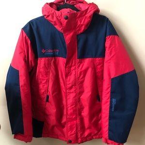 Columbia red & navy coat